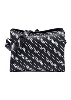 Balenciaga Small Logo-Print Flap Shoulder Bag