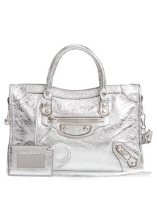 Balenciaga Small Metallic Edge City Leather Tote