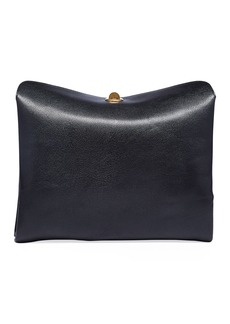 Balenciaga Small Shiny Leather Flap Shoulder Bag