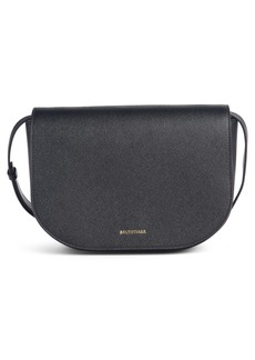Balenciaga Small Ville Logo Leather Saddle Bag