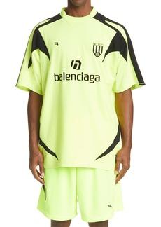 Balenciaga Soccer Logo Cotton Men's Graphic Tee