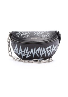 Balenciaga Souvenir graffiti-print leather bag