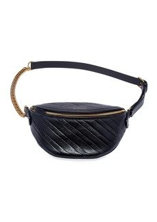 Balenciaga Souvenir XXS AJ Shiny Logo Embossed Fanny Pack Bag