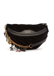 Balenciaga Souvenir velvet belt bag