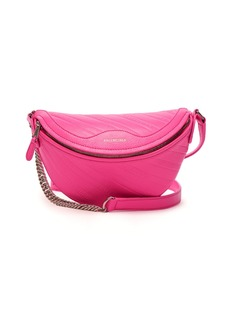 Balenciaga Souvenirs XXS logo-debossed leather belt bag