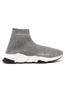 Balenciaga Speed high-top lamé sock trainers