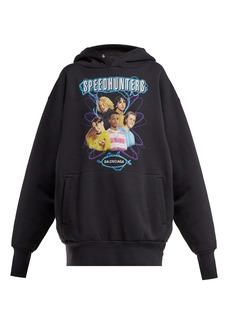 Balenciaga Speedhunters logo-print cotton-jersey sweatshirt