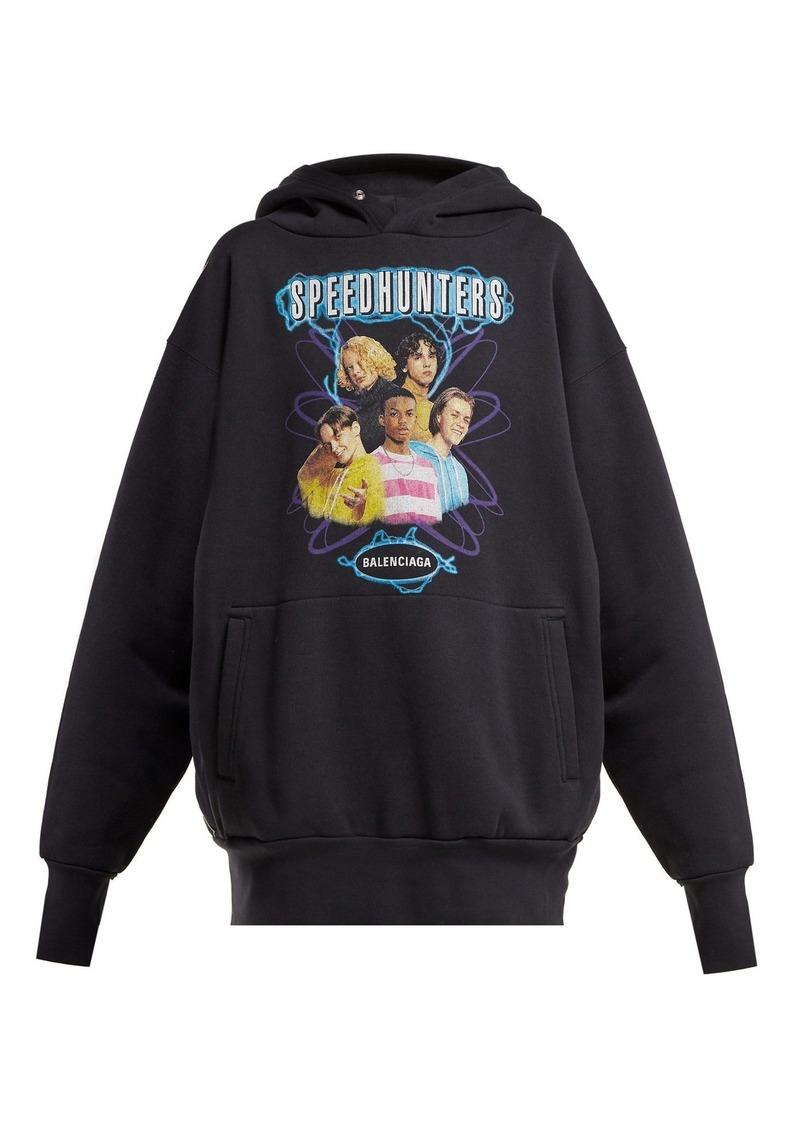 030a39b99060 Balenciaga Balenciaga Speedhunters logo-print cotton-jersey ...