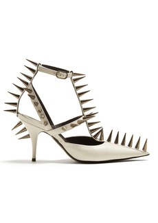 Balenciaga Spike-embellished leather pumps