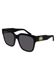 Balenciaga Square Acetate Sunglasses  with BB Temple