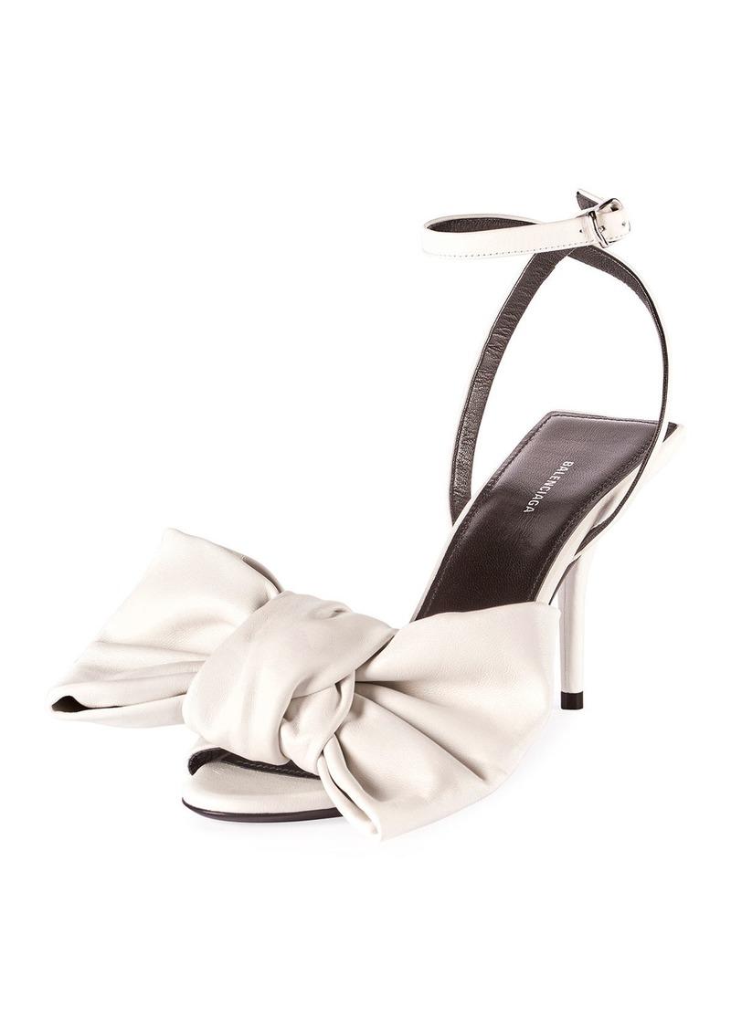 Balenciaga Square Knife Bow Sandals