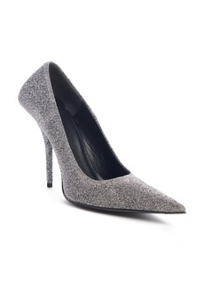 Balenciaga Square Knife Metallic Pointed Toe Pump (Women)
