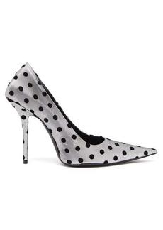 Balenciaga Square Knife polka-dot point-toe pumps