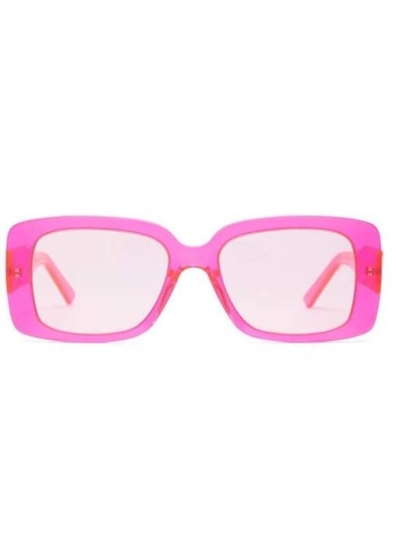 Balenciaga Square logo-plaque acetate sunglasses