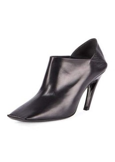 Balenciaga Square-Toe Leather Bootie