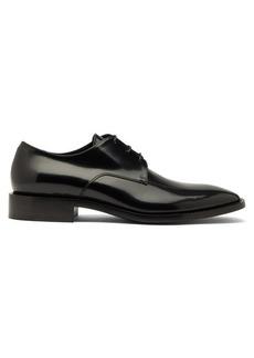 Balenciaga Square-toe leather derby shoes