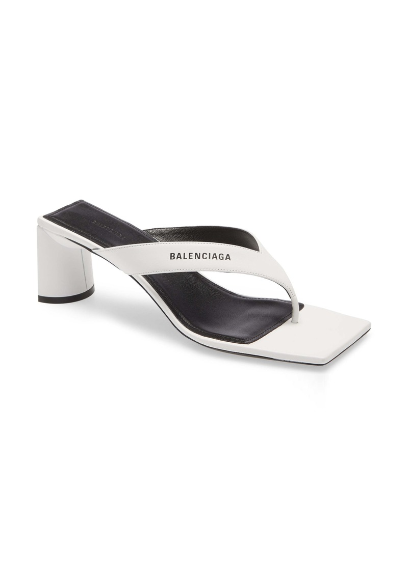 Balenciaga Square Toe Thong Sandal (Women)