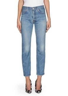 Balenciaga Straight-Leg Ankle Jeans