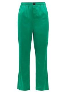 Balenciaga Straight-leg satin trousers