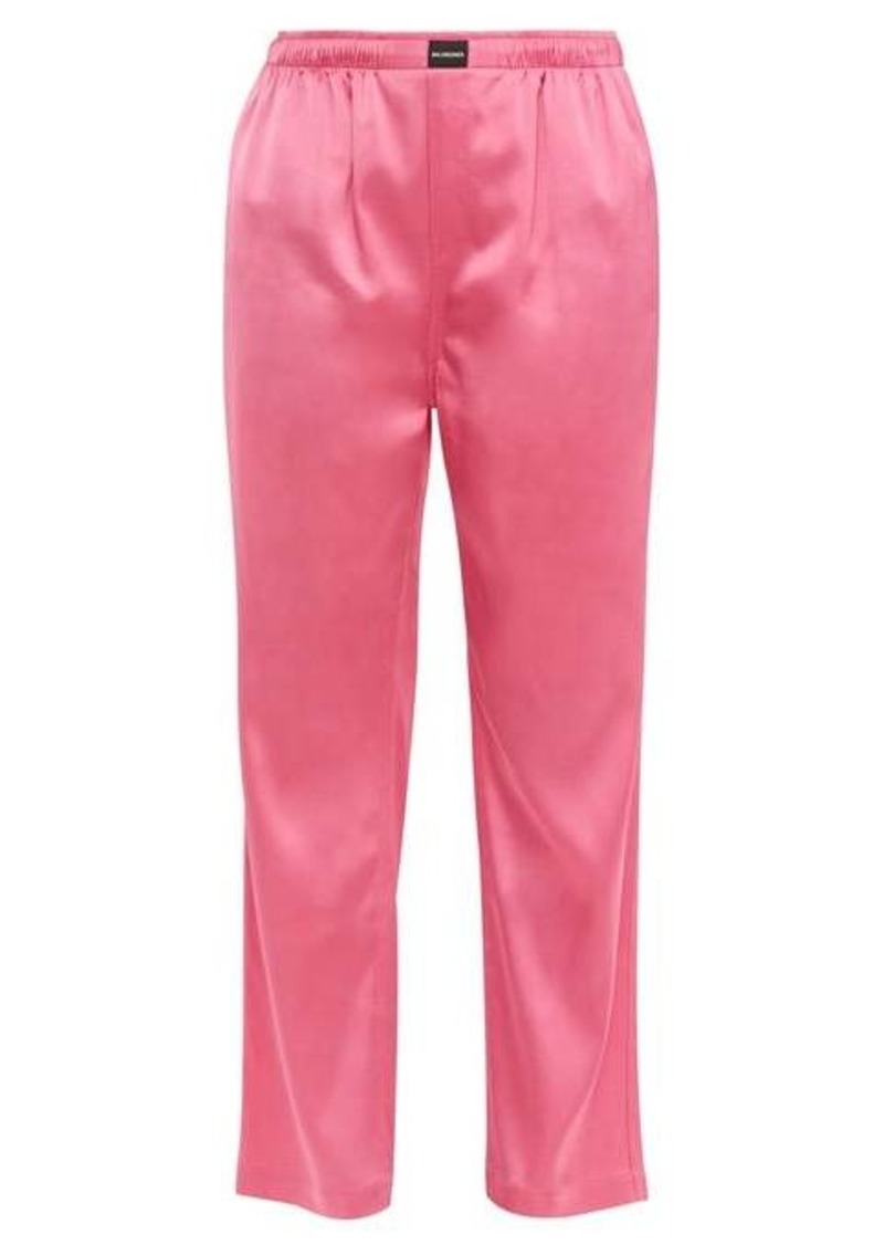 Balenciaga Straight-leg satin trousers