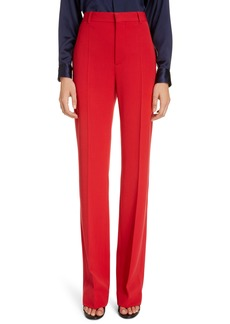 Balenciaga Straight Leg Stretch Twill Trousers