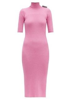 Balenciaga Stretch-knit high-neck dress
