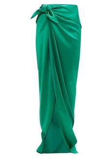 Balenciaga Stretch satin wrap skirt