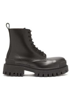 Balenciaga Strike exaggerated-sole leather boots