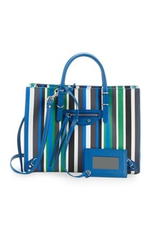 Balenciaga Stripe Leather Tote Bag