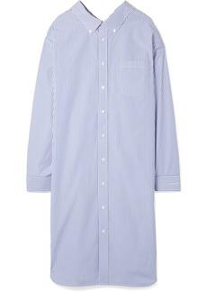 Balenciaga Striped cotton-poplin shirt dress