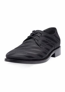 Balenciaga Striped Lace-Up Derby Shoe