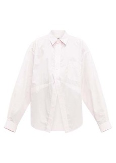 Balenciaga Striped oversized cotton-poplin shirt
