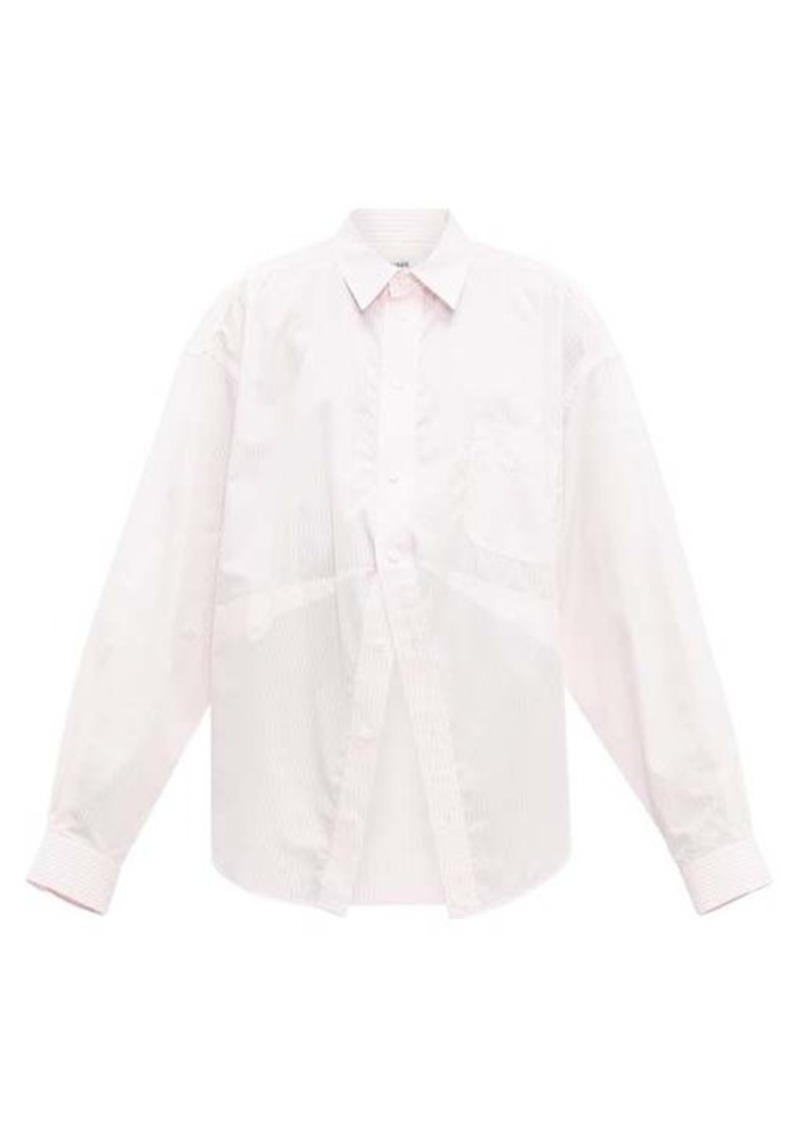 Balenciaga Striped oversized cotton-poplin shirt