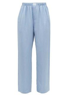 Balenciaga Striped satin wide-leg pyjama trousers