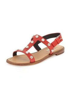 Balenciaga Studded Flat Slingback Sandal