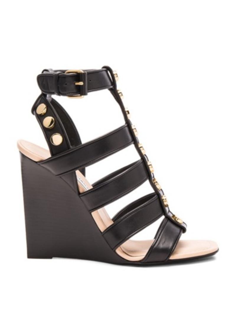 Balenciaga Studded Leather Wedge Sandals