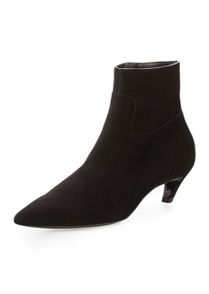Balenciaga Suede Crooked-Heel Ankle Boot