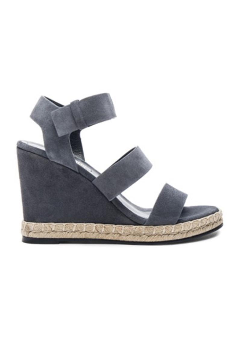 balenciaga balenciaga suede wedge sandals shoes shop it to me. Black Bedroom Furniture Sets. Home Design Ideas