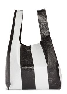 Balenciaga Supermarket Shopper Stripe Leather Bag