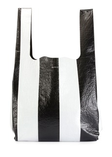 Balenciaga Supermarket Striped Shopper Hobo Bag