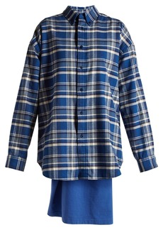 Balenciaga Sweatshirt-detail checked cotton shirt