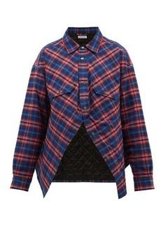 Balenciaga Swing Canadian-checked cotton-flannel shirt