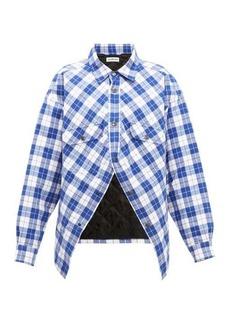 Balenciaga Swing Canadian checked cotton-flannel shirt