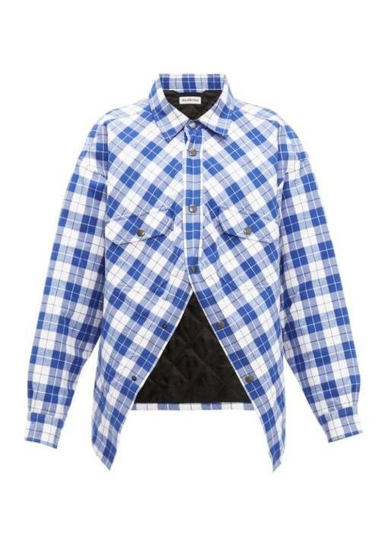 Balenciaga Swing Canadian checked cotton-flannel shirt