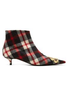 Balenciaga Tartan BB ankle boots