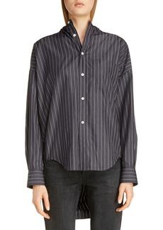 Balenciaga Tie Back Pinstripe Shirt