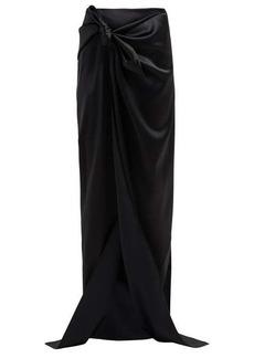 Balenciaga Tie-detail satin skirt