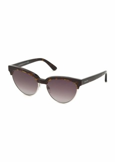 Balenciaga Tortoise Cat-Eye Semi-Rimless Sunglasses
