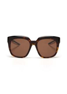 Balenciaga Tortoiseshell-effect acetate and rubber sunglasses