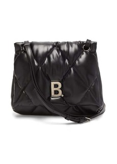 Balenciaga Touch medium B-plaque quilted-leather shoulder bag